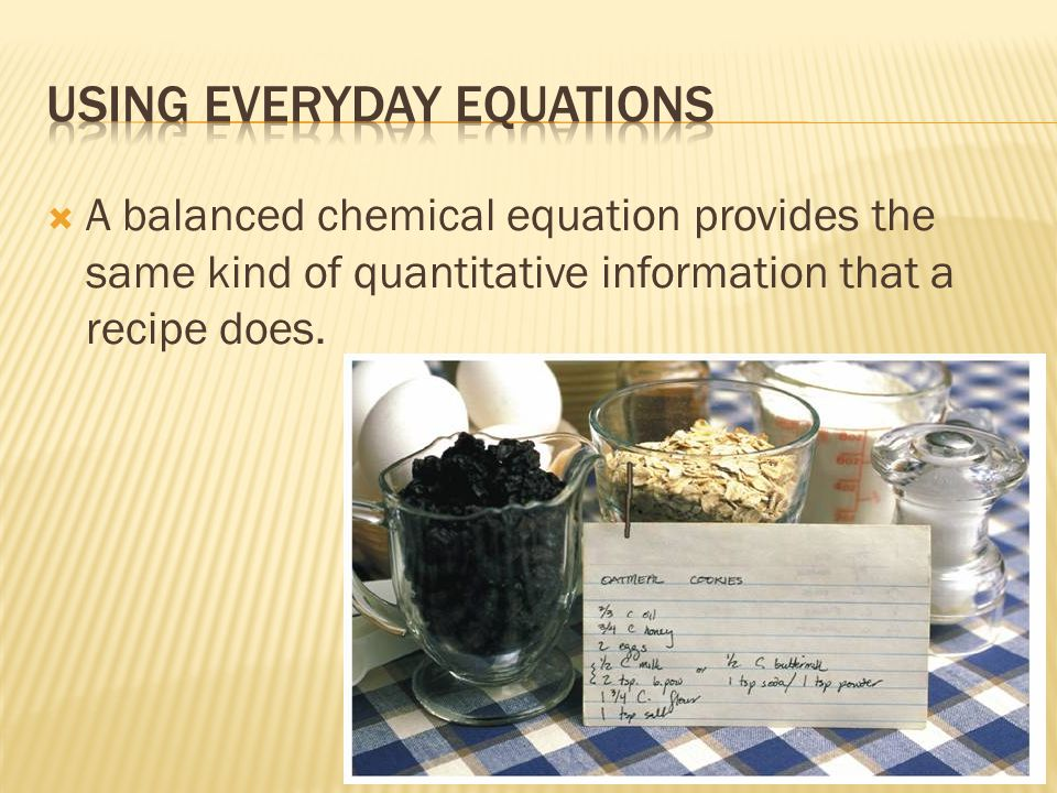 Using Everyday equations