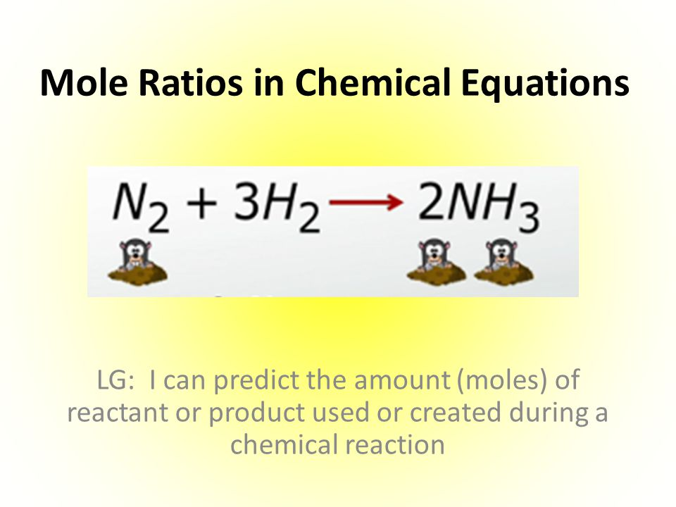 mole ratio of chemical reactions