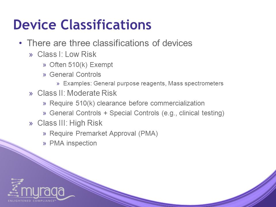 Device Classifications