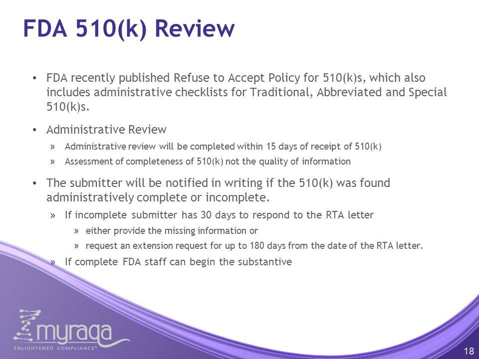 FDA 510(k) Review