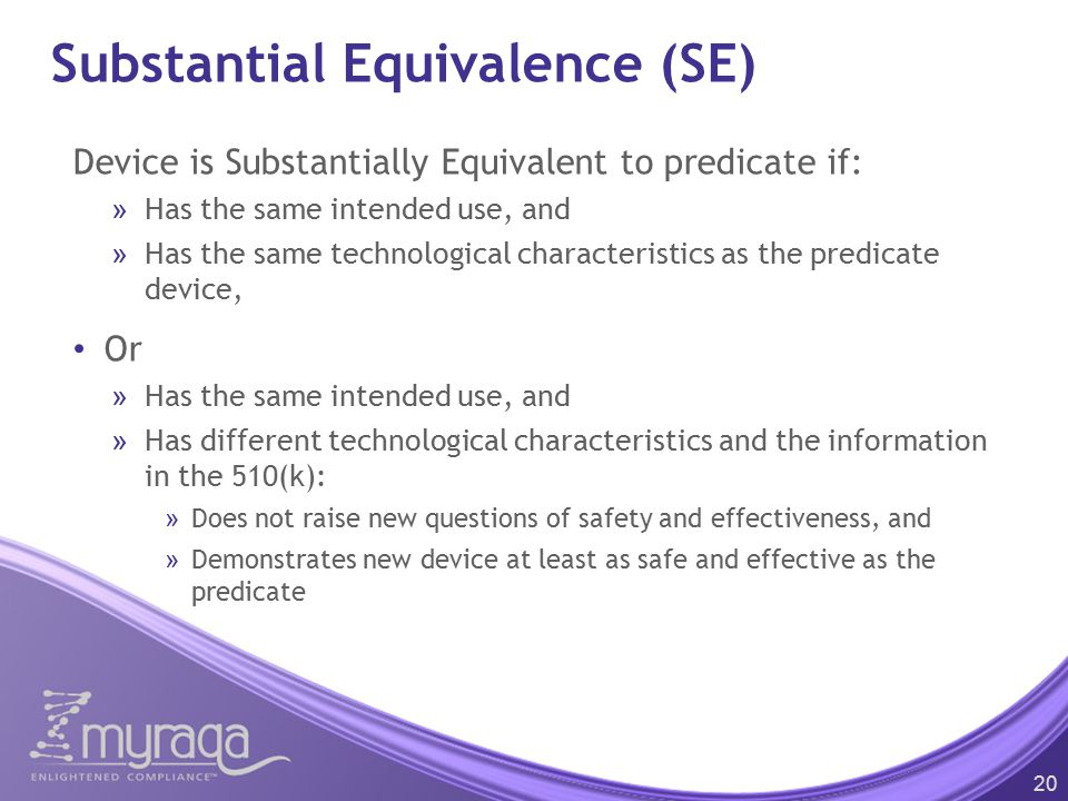 Substantial Equivalence (SE)