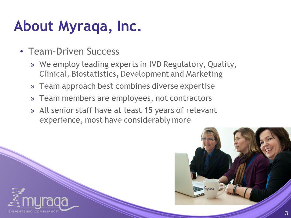 About Myraqa, Inc. Team-Driven Success