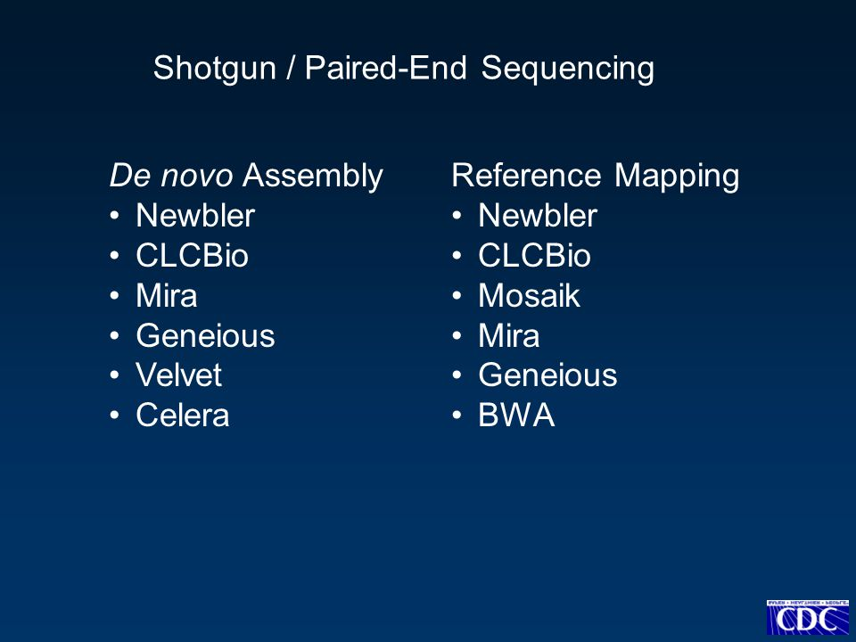 Shotgun / Paired-End Sequencing