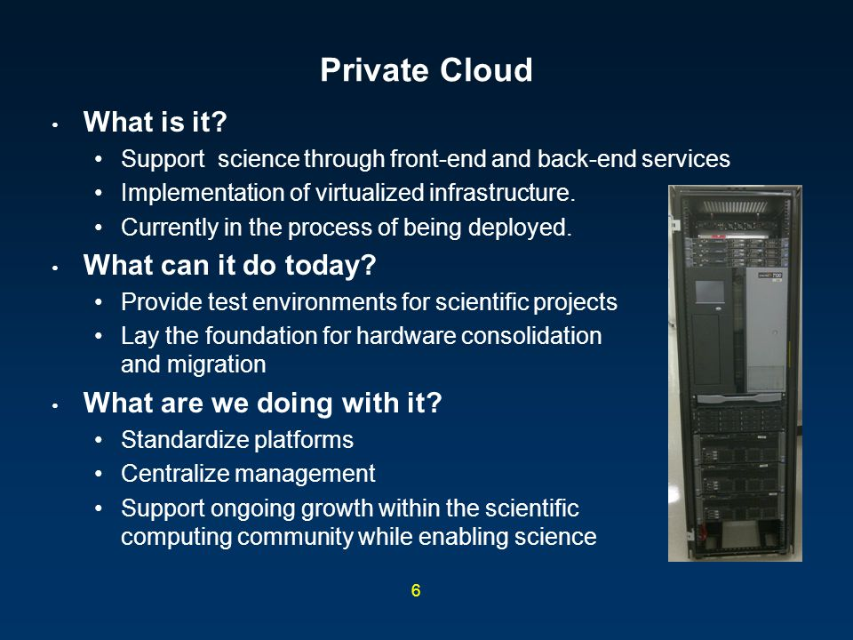 Private Cloud What is it What can it do today
