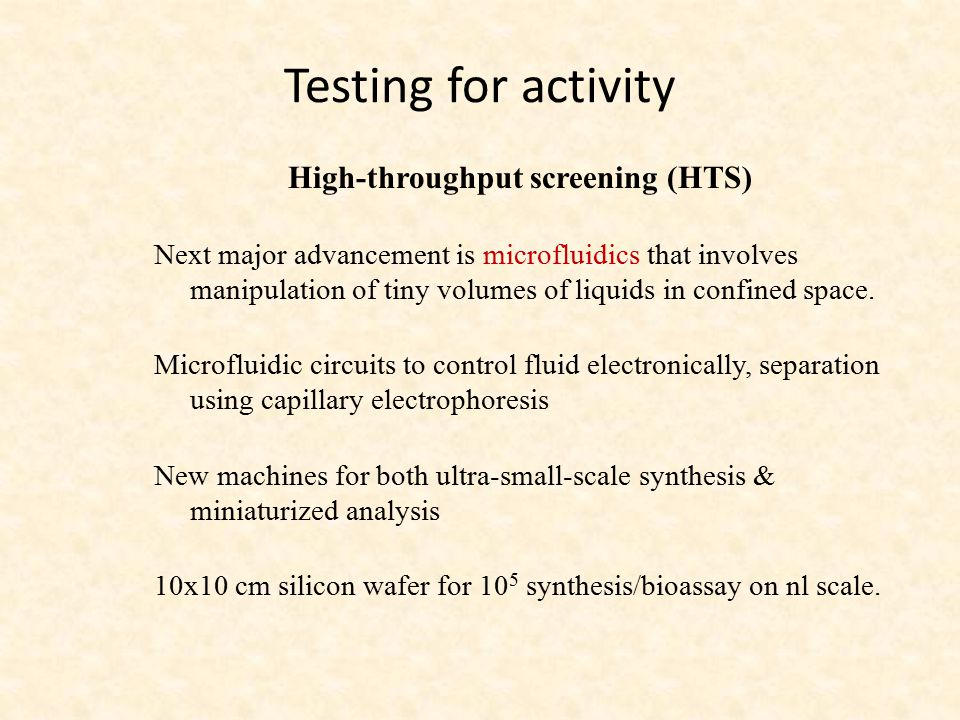 High-throughput screening (HTS)