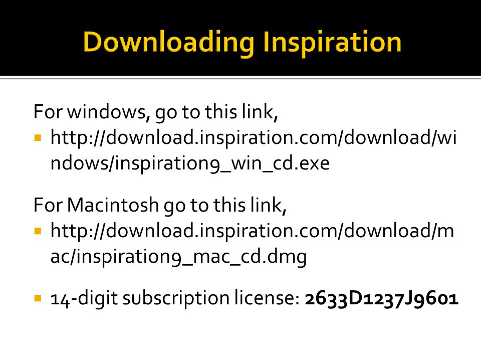 Downloading Inspiration