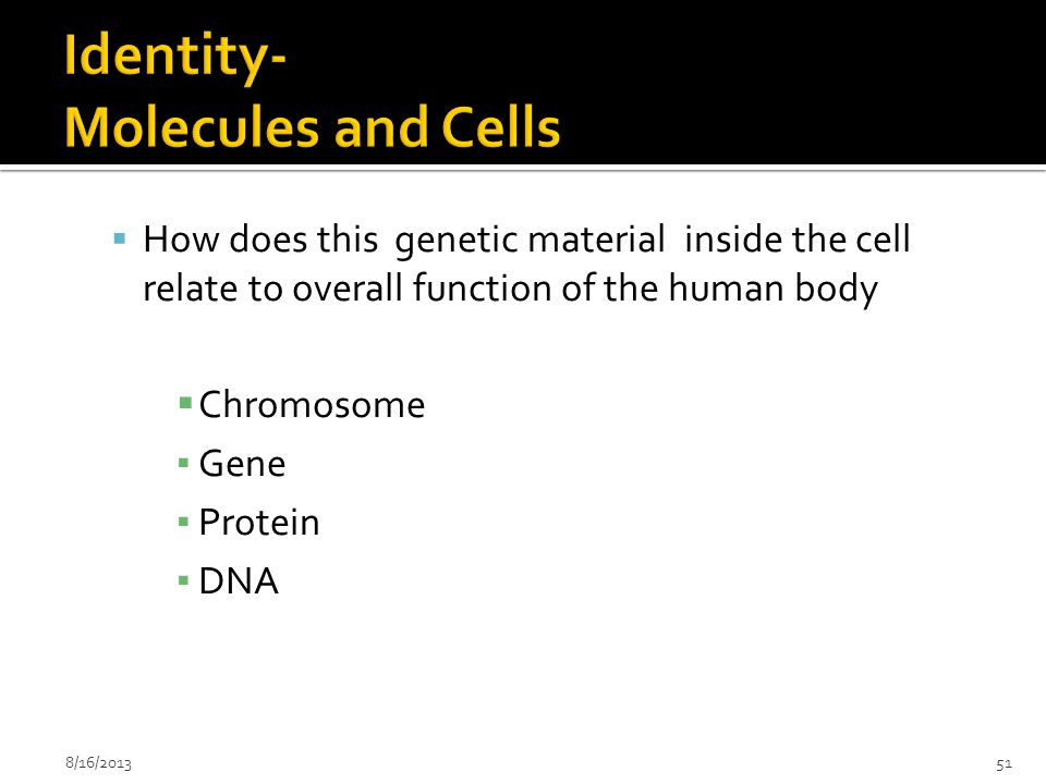 Identity- Molecules and Cells