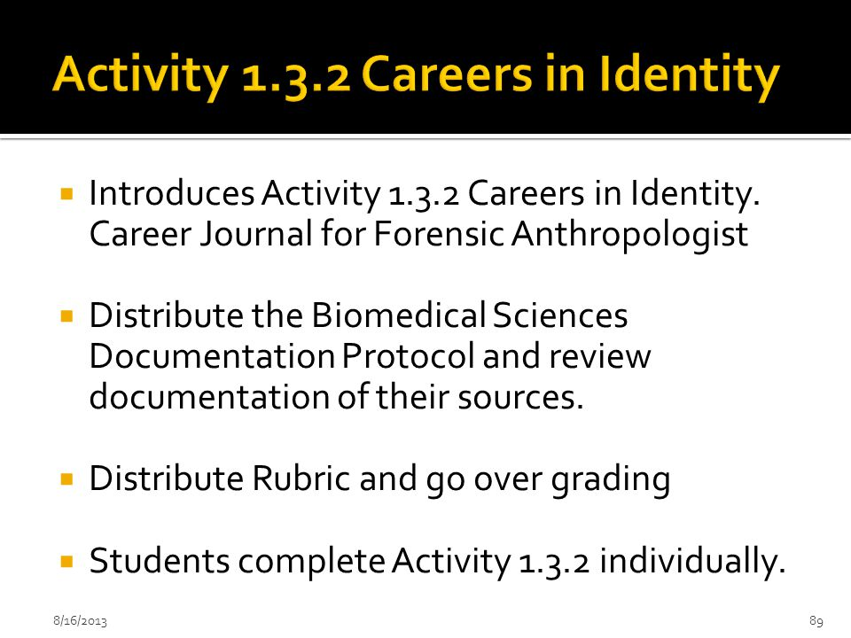 Activity 1.3.2 Careers in Identity