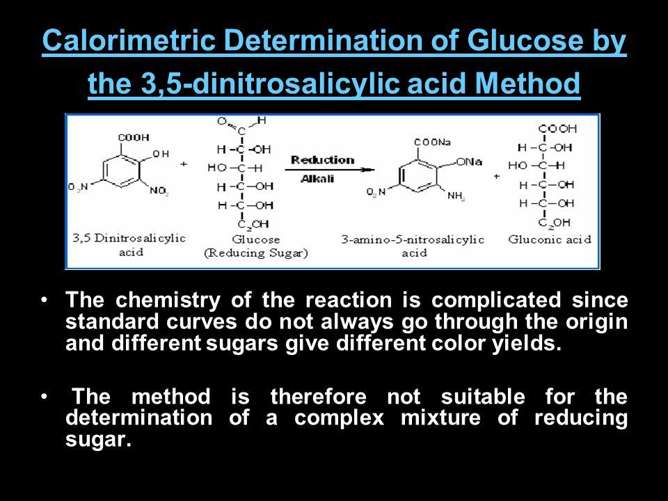 Calorimetric Determination of Glucose by the 3,5-dinitrosalicylic acid Method