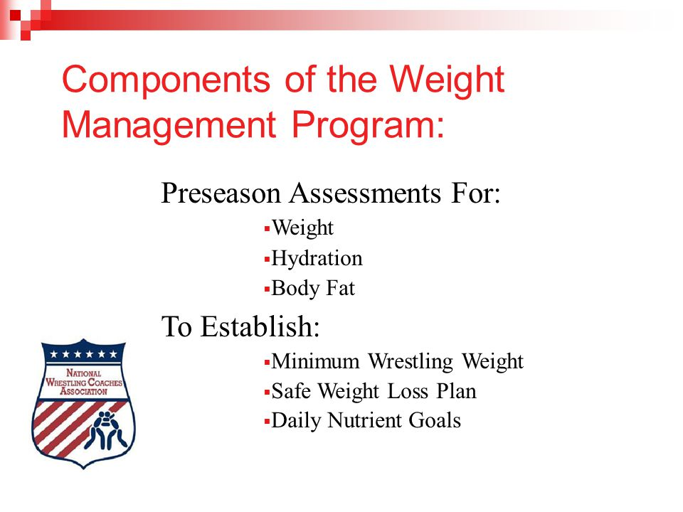 Components of the Weight Management Program:
