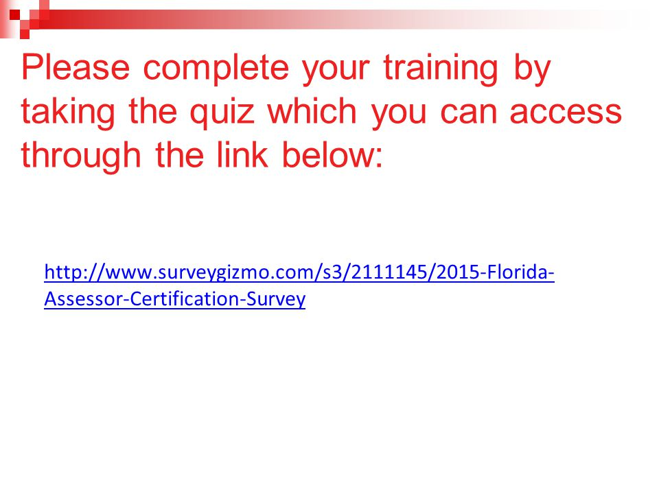Please complete your training by taking the quiz which you can access through the link below: