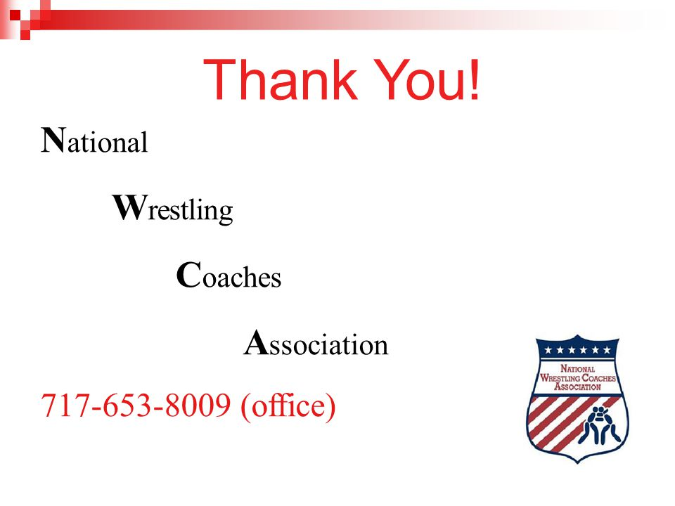 Thank You! National Wrestling Coaches Association
