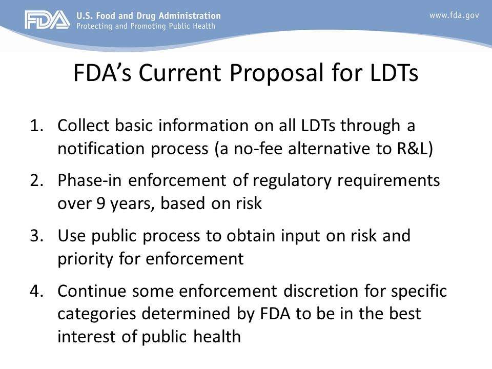 FDA's Current Proposal for LDTs