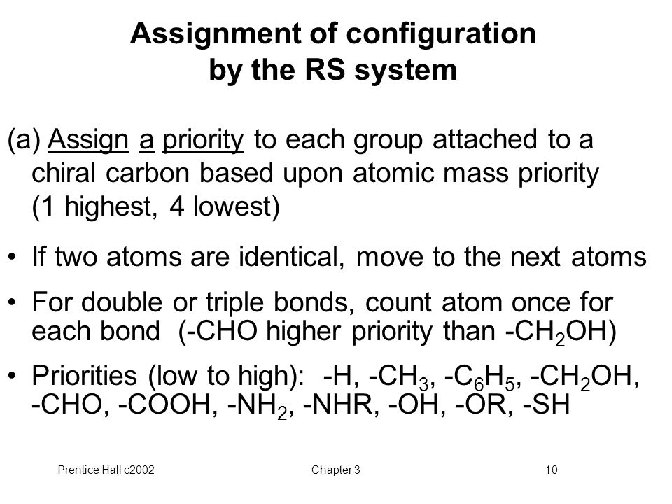 Assignment of configuration by the RS system