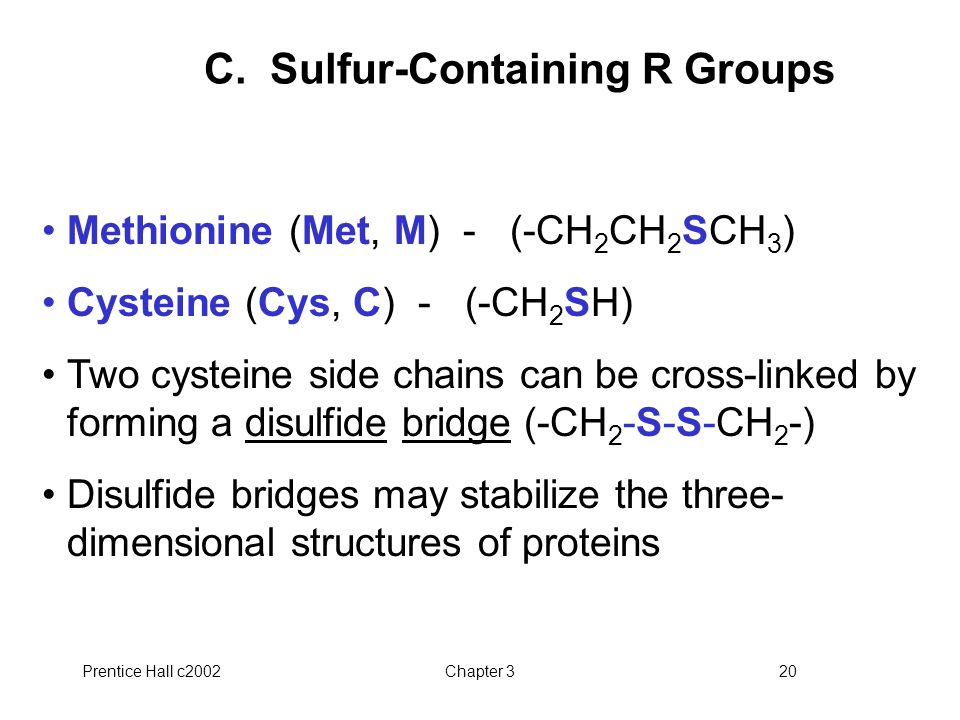 C. Sulfur-Containing R Groups