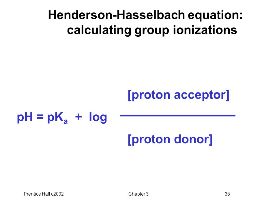 Henderson-Hasselbach equation: calculating group ionizations