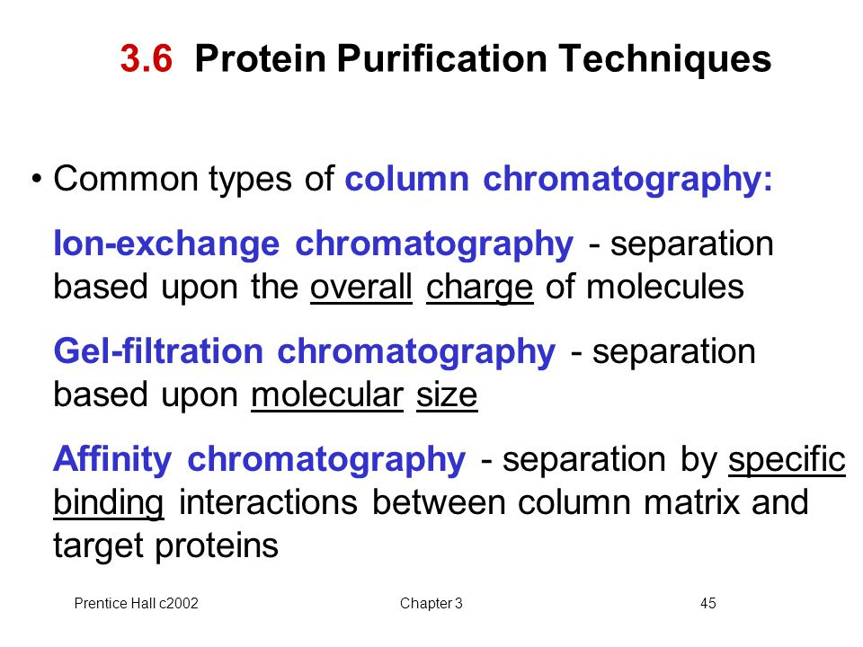3.6 Protein Purification Techniques