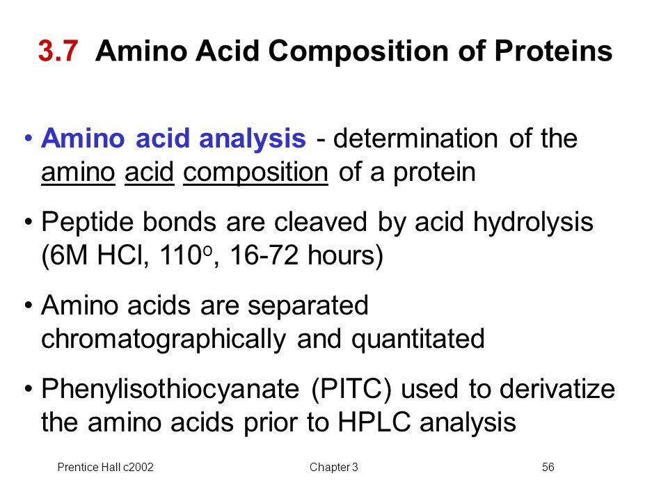 3.7 Amino Acid Composition of Proteins