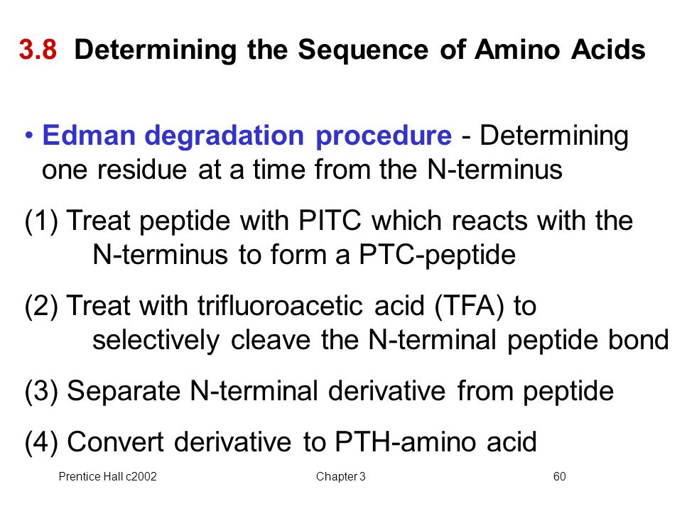 3.8 Determining the Sequence of Amino Acids