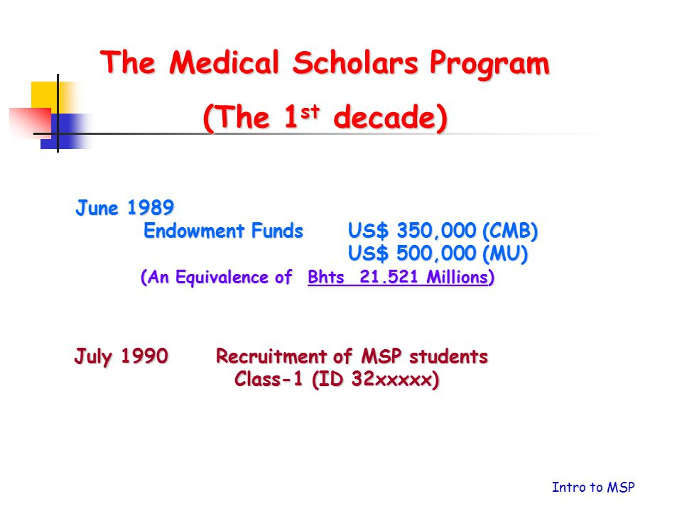 The Medical Scholars Program