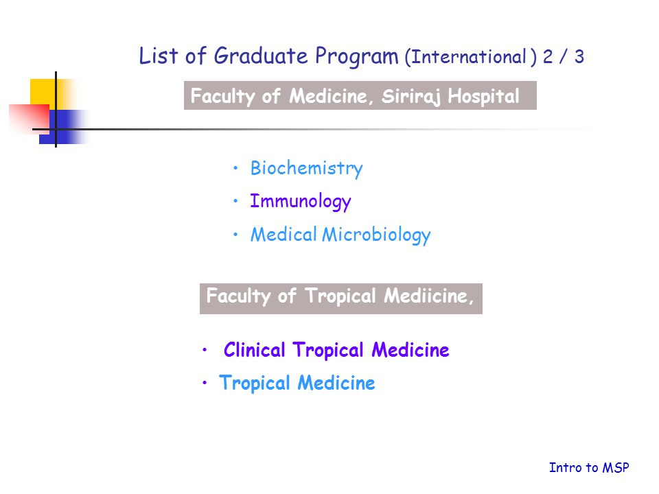 List of Graduate Program (International ) 2 / 3
