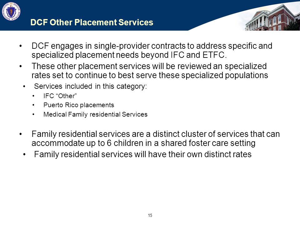 DCF Other Placement Services