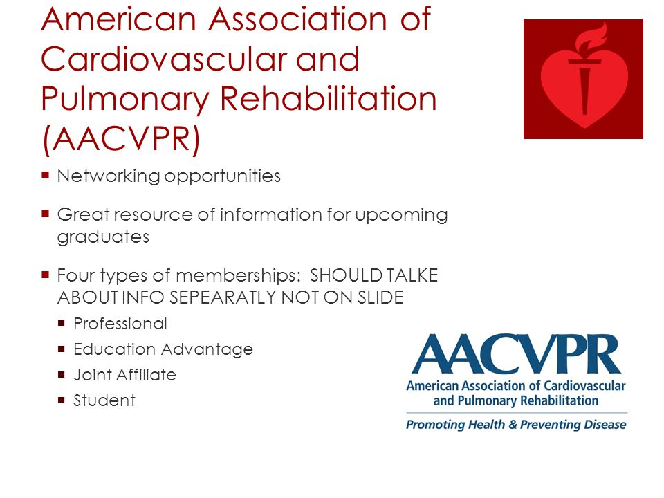 American Association of Cardiovascular and Pulmonary Rehabilitation (AACVPR)