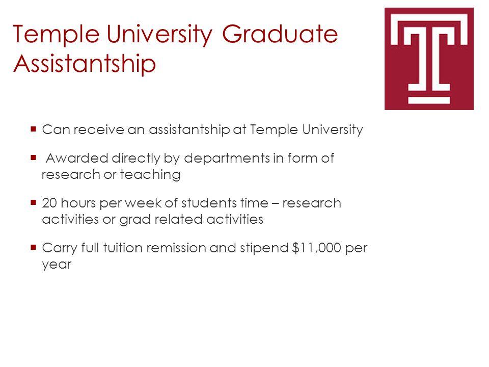 Temple University Graduate Assistantship