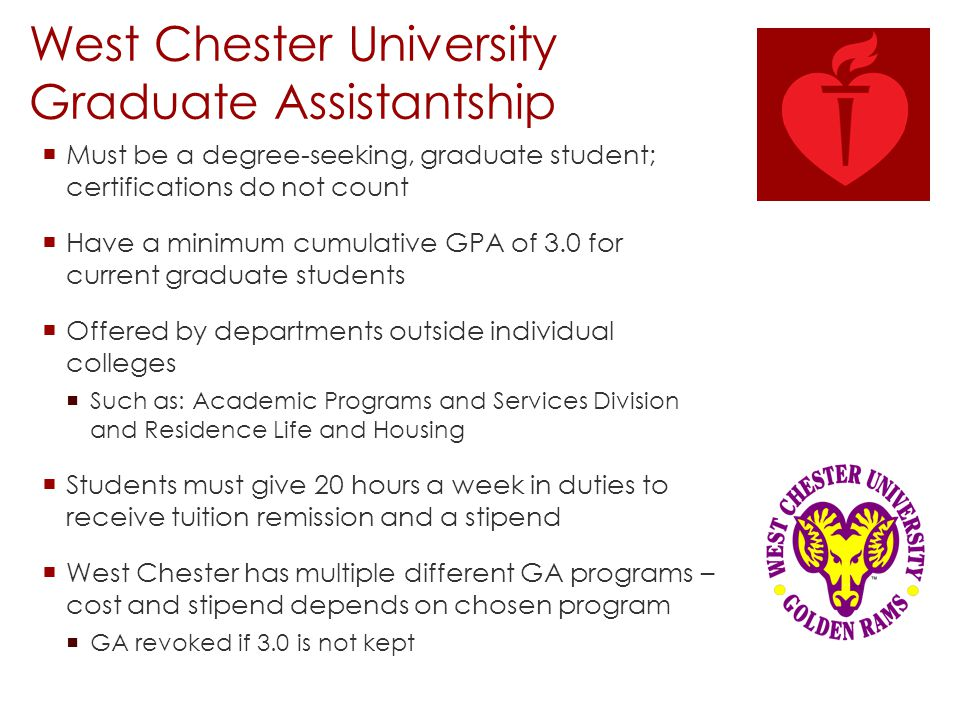 West Chester University Graduate Assistantship