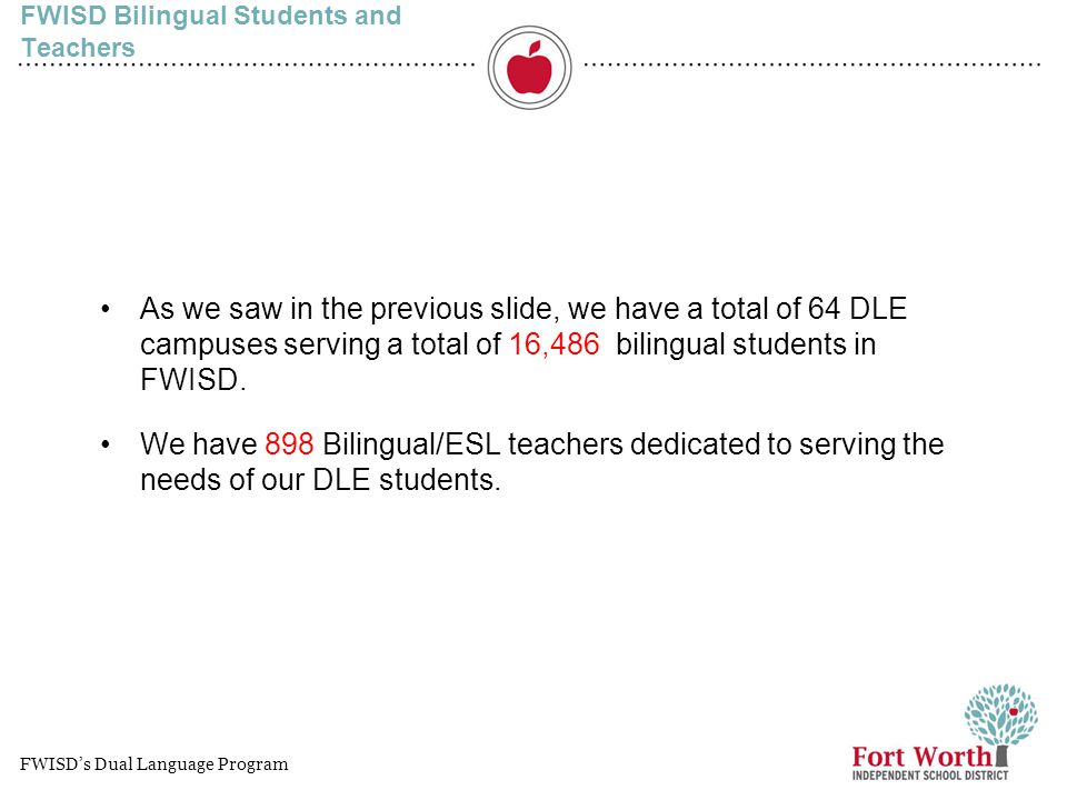 FWISD Bilingual Students and Teachers
