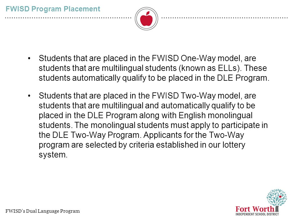 FWISD Program Placement