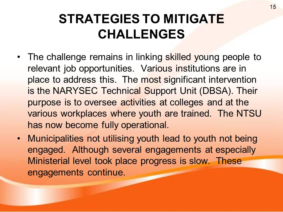 STRATEGIES TO MITIGATE CHALLENGES