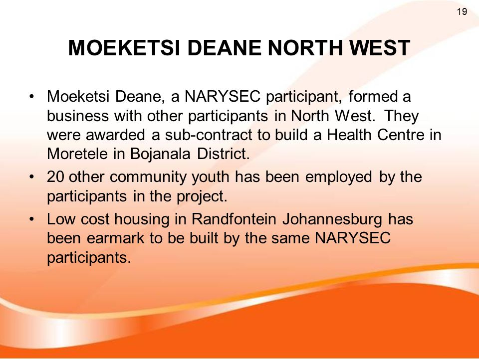 MOEKETSI DEANE NORTH WEST