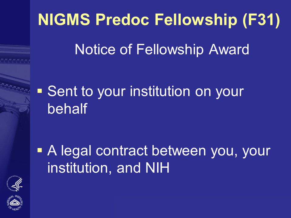 NIGMS Predoc Fellowship (F31)