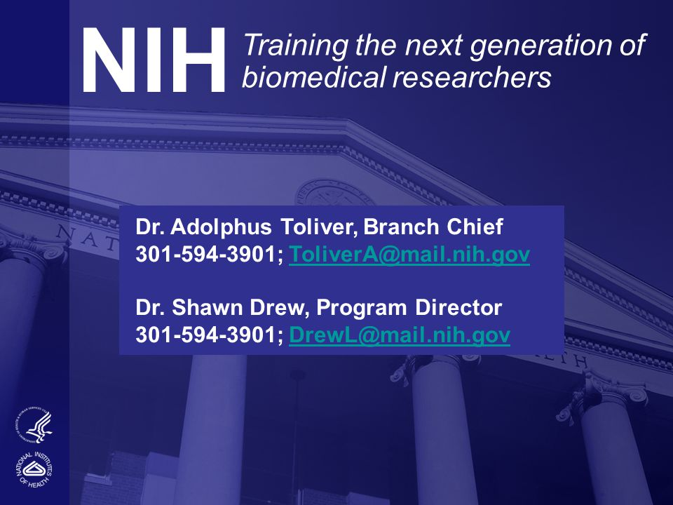 NIH Training the next generation of biomedical researchers