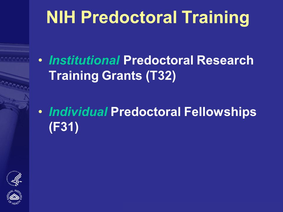 NIH Predoctoral Training