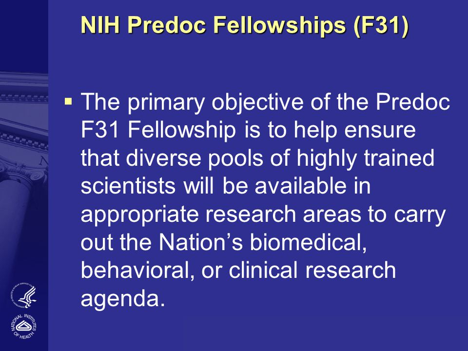 NIH Predoc Fellowships (F31)