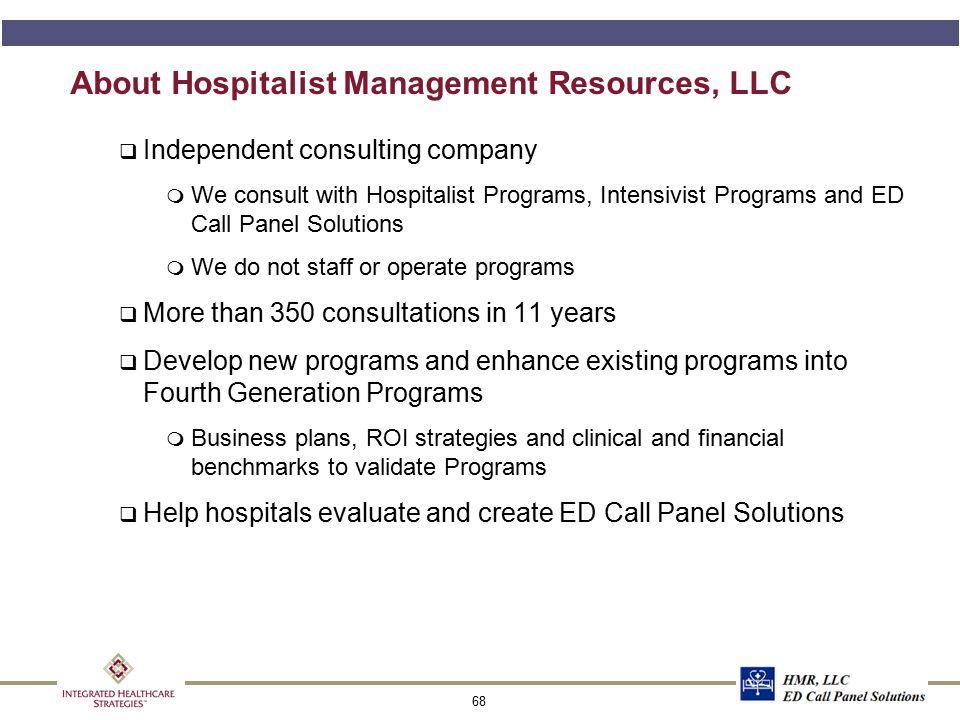 About Hospitalist Management Resources, LLC, cont.