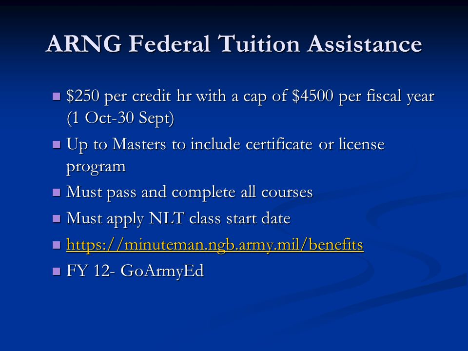 ARNG Federal Tuition Assistance