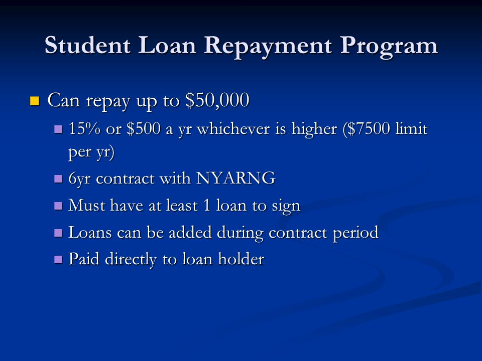 Student Loan Repayment Program
