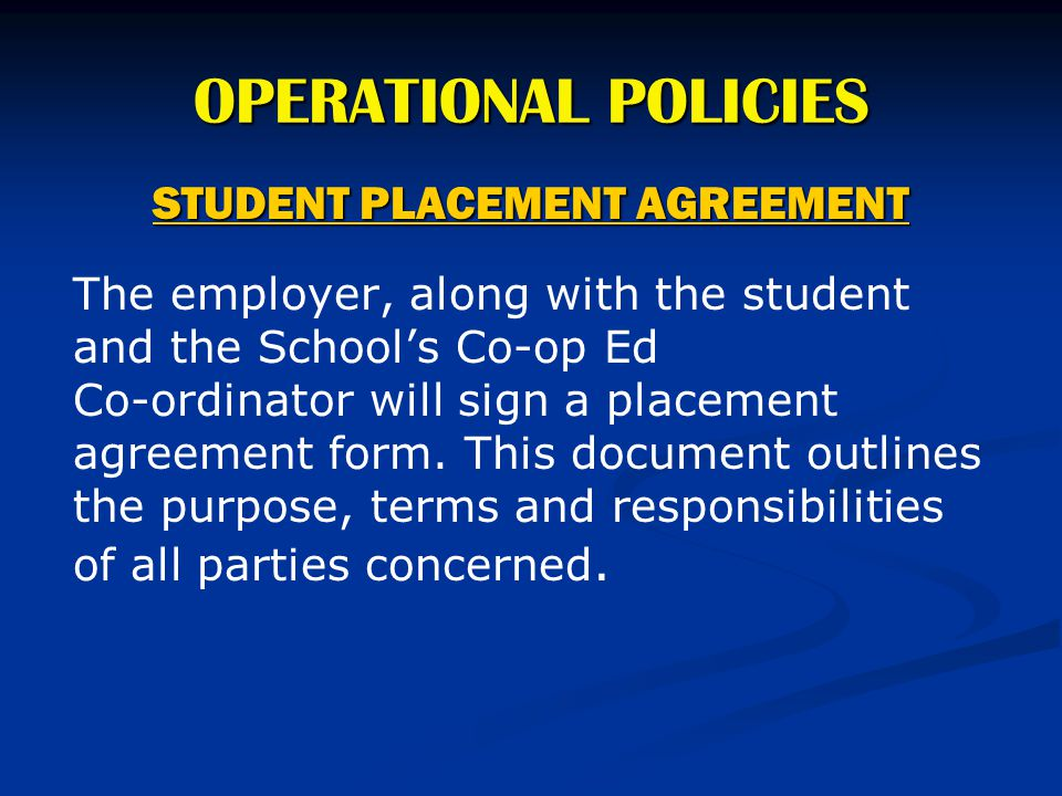 STUDENT PLACEMENT AGREEMENT