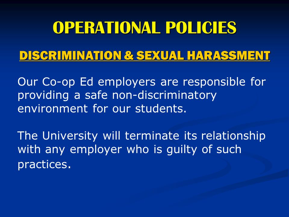 DISCRIMINATION & SEXUAL HARASSMENT