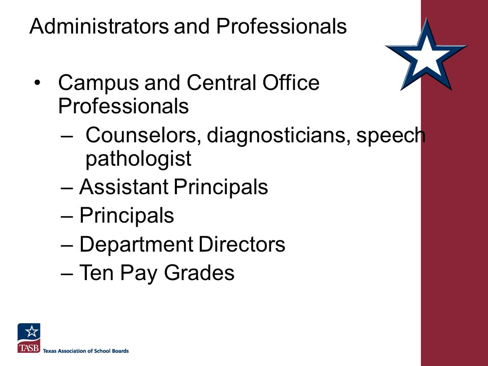 Administrators and Professionals