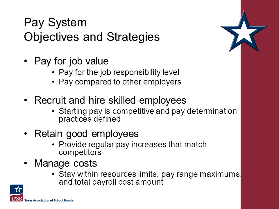 Pay System Objectives and Strategies