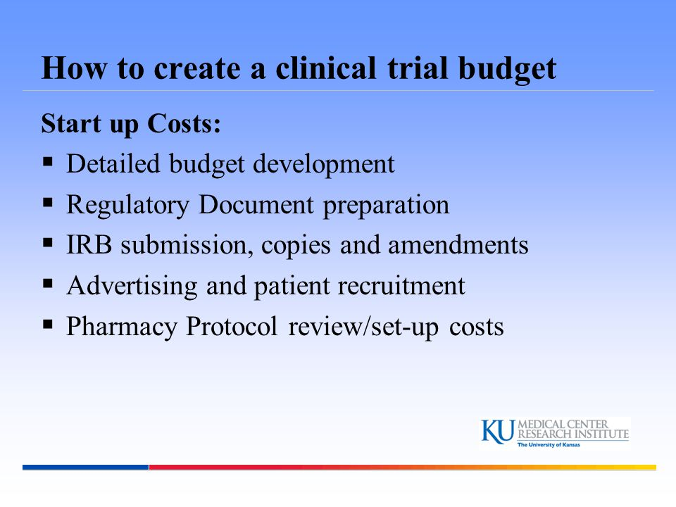 How to create a clinical trial budget