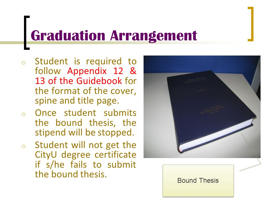 Graduation Arrangement