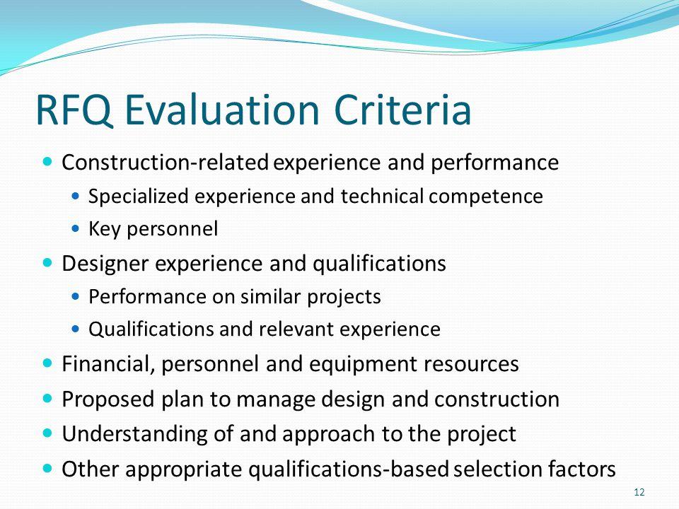 RFQ Evaluation Criteria