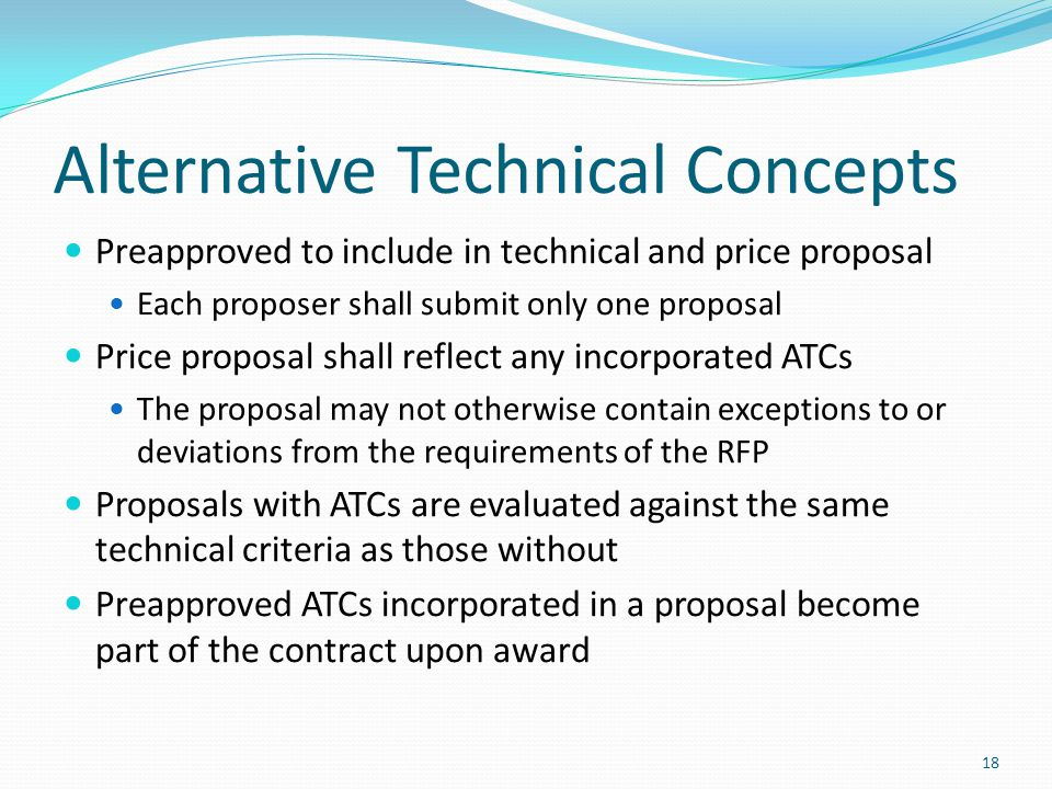 Alternative Technical Concepts