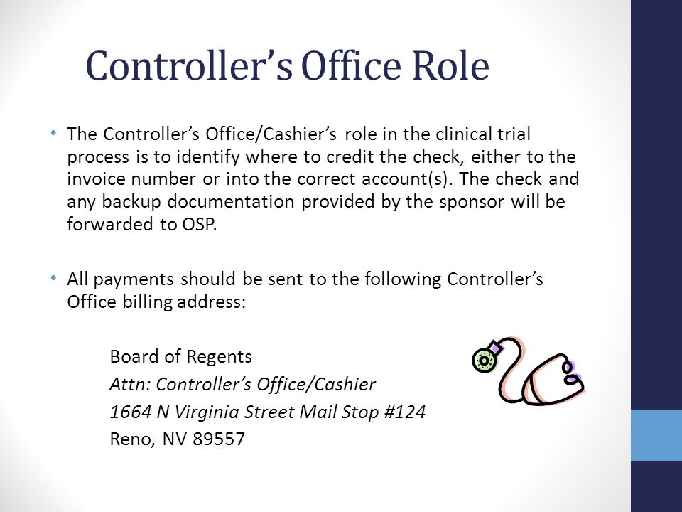 Controller's Office Role