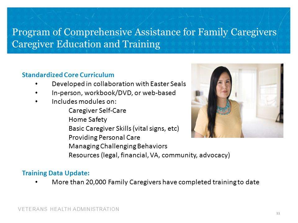 Program of Comprehensive Assistance for Family Caregivers Caregiver Education and Training